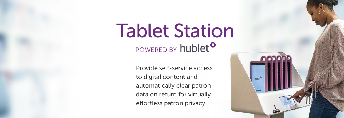 EnvisionWare Tablet Station powered by Hublet