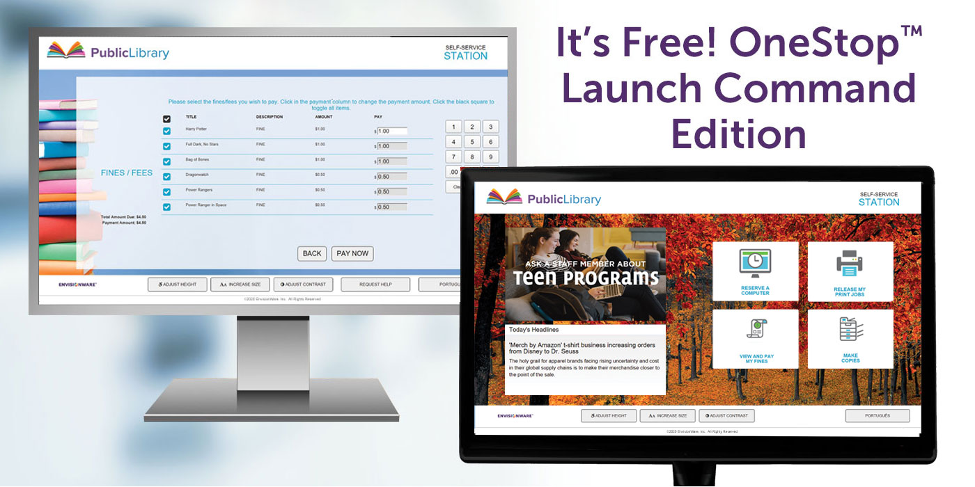 EnvisionWare's OneStop™ Launch Command Edition