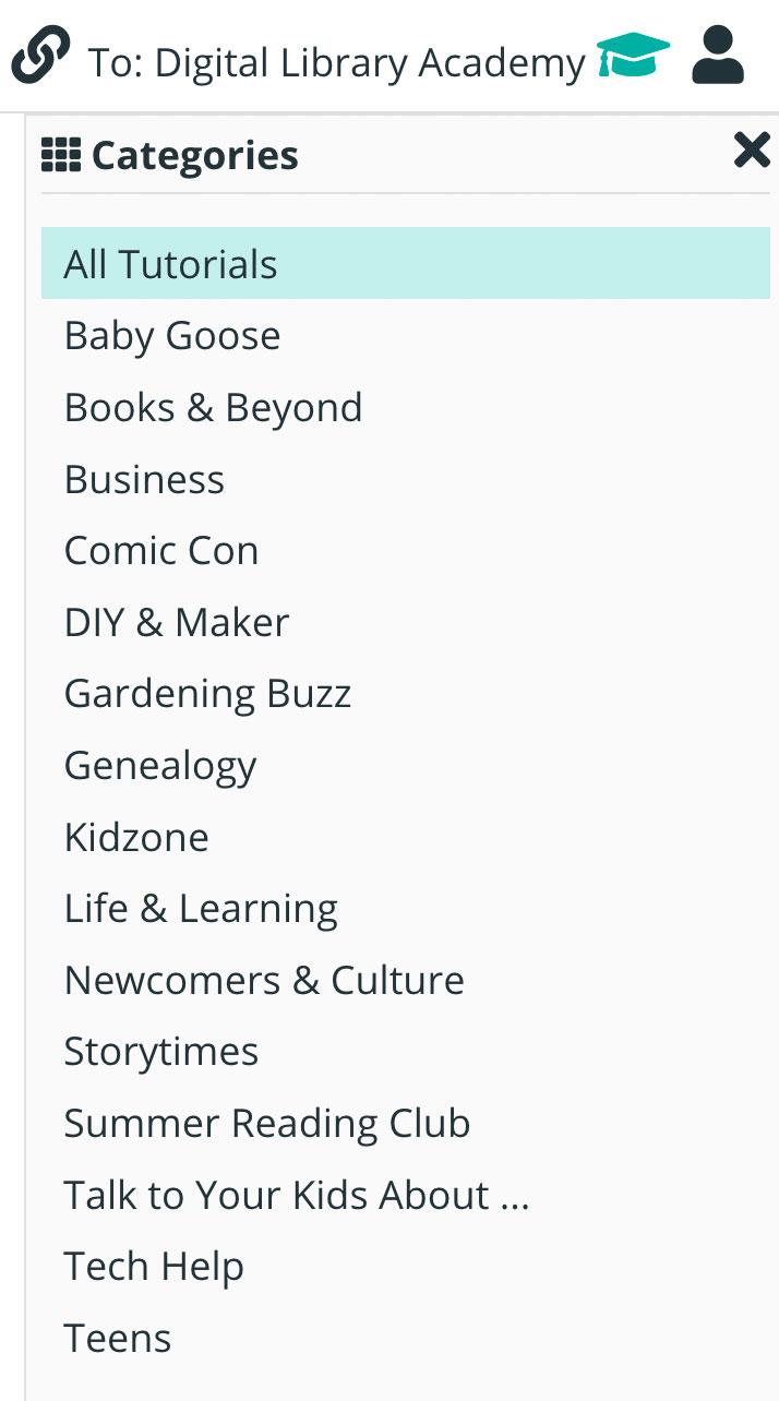 Niche Academy Categories